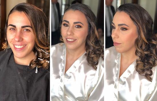 maquilhagem casamento antes e depois