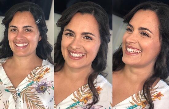 maquilhagem noiva antes e depois