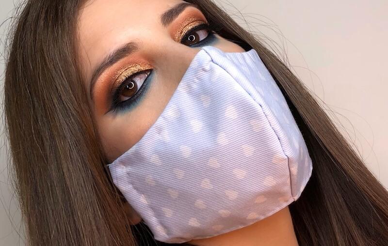 maquilhagem e mascara proteção