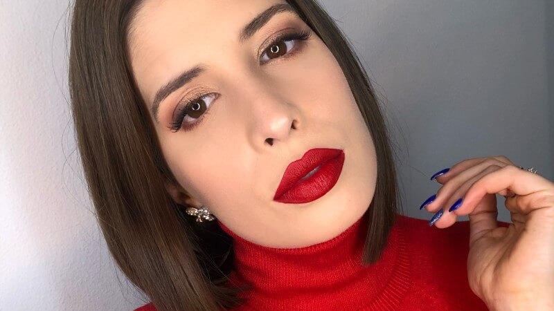 maquilhagem para vestido vermelho