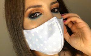 mascara proteção e maquilhagem